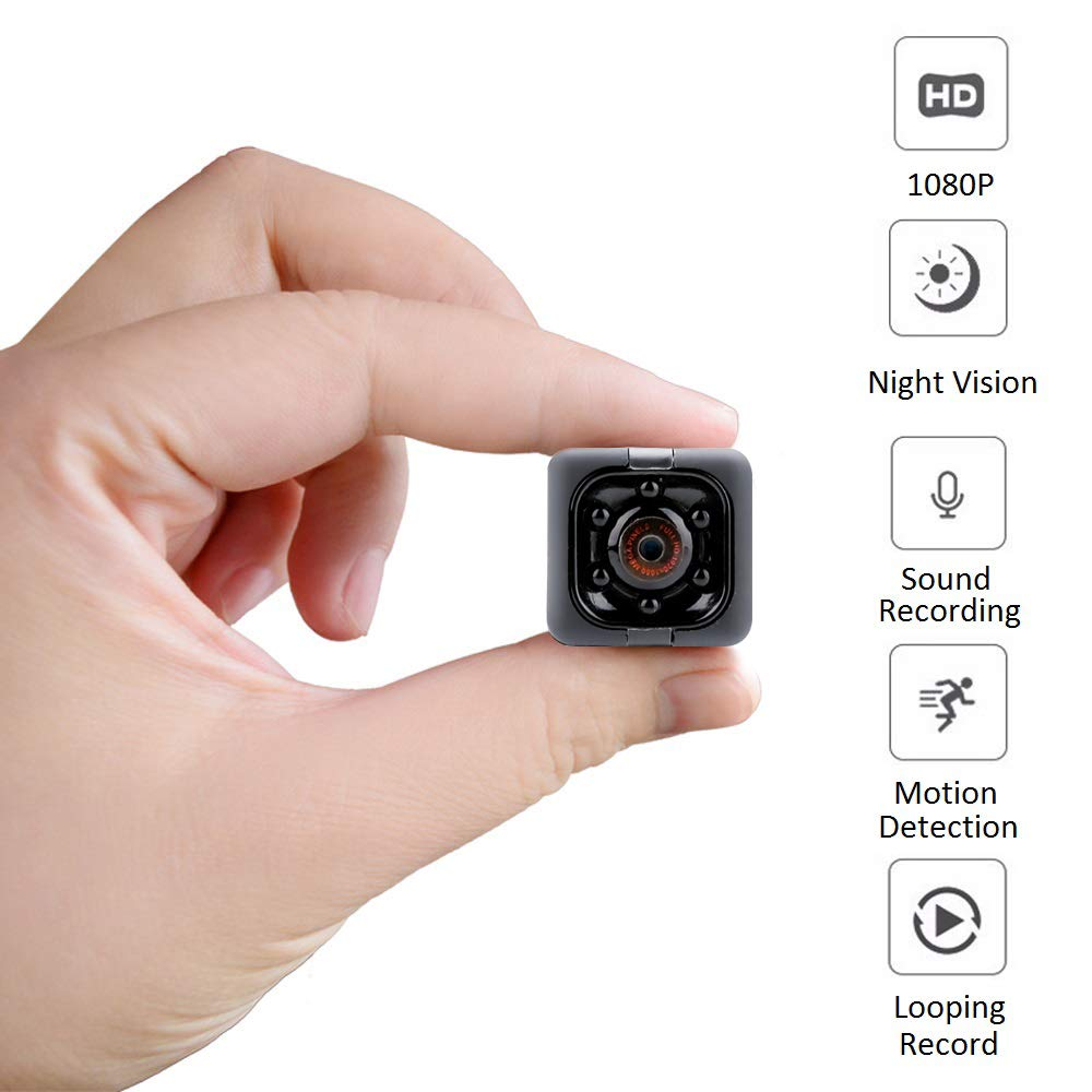 Spy Hidden Camera (No WiFi), 1080P HD Spy Camera with Audio & Video Recording, Night Vision and Motion Detective for Home, Office and Outdoor by Sisfung