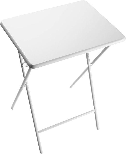 Versa Mesa Plegable Lyon Blanco 66x38x48 cm: Amazon.es: Hogar