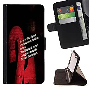 DEVIL CASE - FOR Sony Xperia Z2 D6502 - cool statement 21 gram death - Style PU Leather Case Wallet Flip Stand Flap Closure Cover
