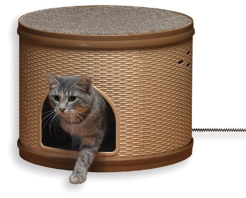 Allied Precision Heated Pet Bed - Allied Heated 14 1/2-Inch by 17 1/4-Inch Diameter Pet Hutch