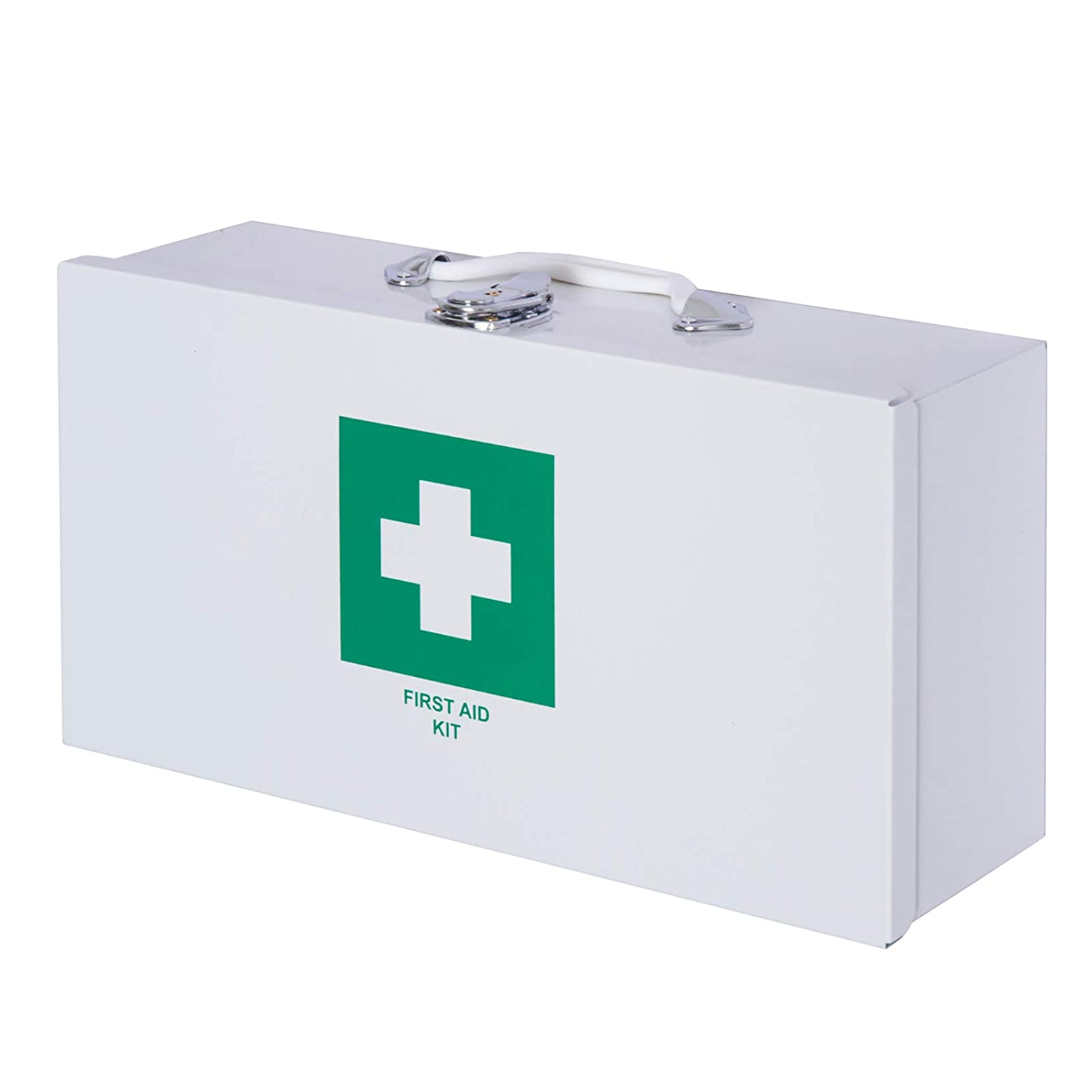 HOMCOM Metal Medical Cabinet First Aid Kit Case for Home Office Wall Mounted Lockable Storage Box White Sold by MHSTAR UK713-0360331