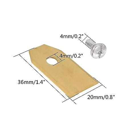 0.6mm 9pcs sustitución del cortador cortador de césped cuchillas ...