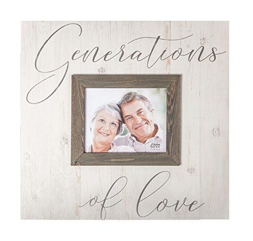 Generations of Love Rustic Grey 17.5 x 17 Wood Wall Hanging Photo Frame Plaque