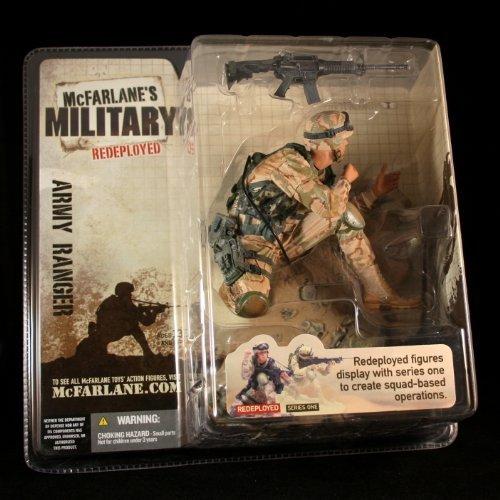 (ARMY RANGER * CAUCASIAN VARIATION * McFarlane's Military Redeployed Series 1 Action Figure & Display Base)