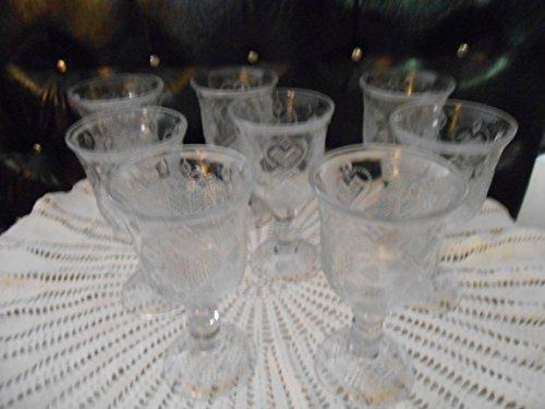 Avon Fostoria Hearts and Diamonds Goblets (8)