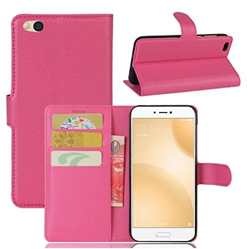 Funda Xiaomi Mi 5C,Manyip Caja del teléfono del cuero,Protector de Pantalla de Slim Case Estilo Billetera con Ranuras para Tarjetas, Soporte Plegable, Cierre Magnético H