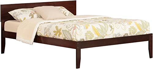 Atlantic Furniture AR8151004 Orlando Platform Bed with Open Foot Board, King, Walnut