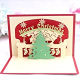 3D pop-up Christmas Tree Greeting Cards Wedding & Baby Shower Greeting Card (96)