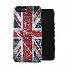 London Great Britain England Flag Plastic Phone Snap On Back Case Cover Shell For iPhone 7 Plus & iPhone 8 Plus