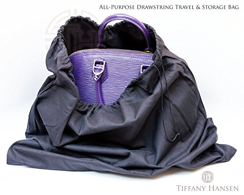 Tiffany Hansens Cotton Large Drawstring Shoe & Purse Travel Storage Bag (2)