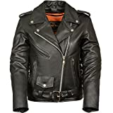 Product review for Ladies Leather Motorcycle Leather Jacket plain sides