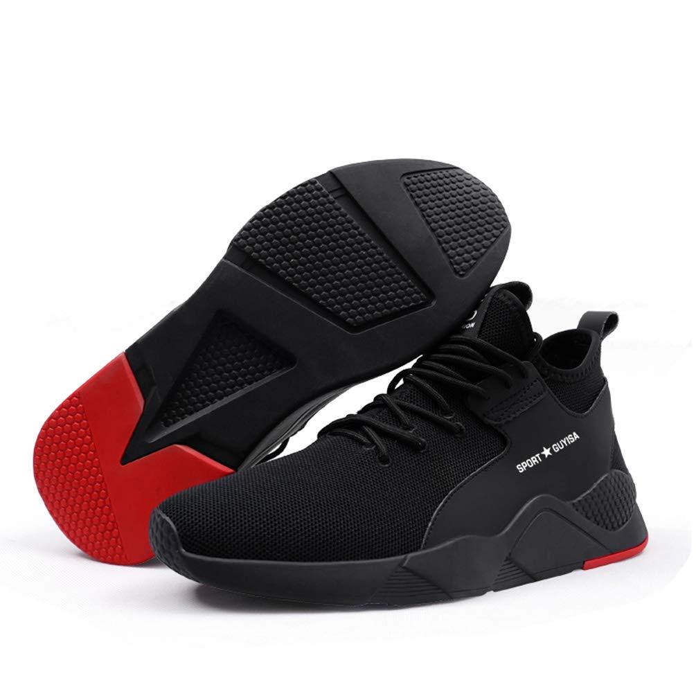 AONEGOLD/® Unisex Sicherheitsschuhe Herren Damen S3 Arbeitsschuhe Schutzschuhe mit Stahlkappe Leicht Sportlich und Atmungsaktiv Sneaker