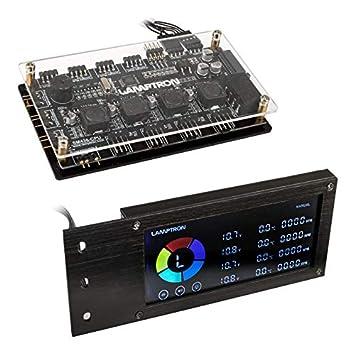 Lamptron SM436 PCI RGB-L/üfter und LED-Controller Silber