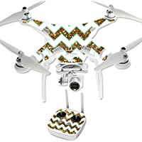MightySkins Protective Vinyl Skin Decal for DJI Phantom 3 Professional Quadcopter Drone wrap cover sticker skins Glitter Chevron