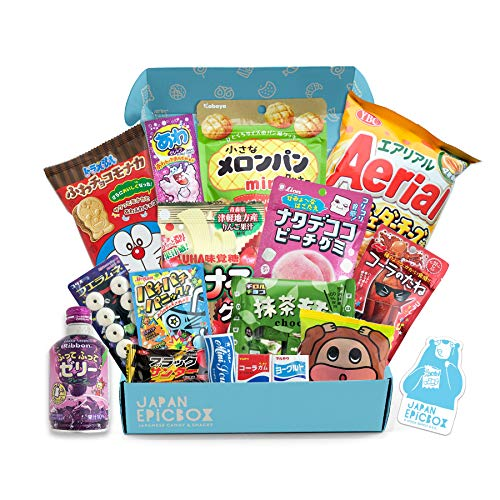 Premium Japanese Snack Box | Variety Assortment of Japanese Candy and Snacks | College Care Package | Gift Care Package - Japan EPICBOX by Nook Supply & Co.