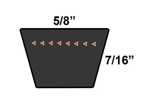 D/&D PowerDrive 12PL1511 Metric Standard Replacement Belt Rubber