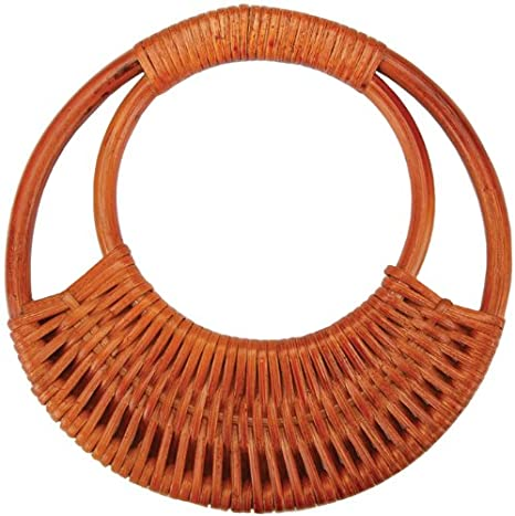 Sunbelt Fasteners Rattan Purse Handle 7-1/16-Inch Round, Amber Notions - In Network SFPH-R15-AMB