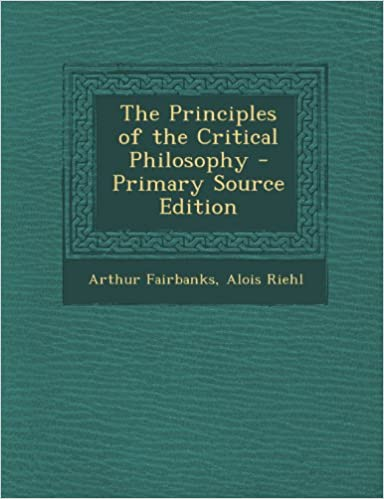 Principles of the Critical Philosophy