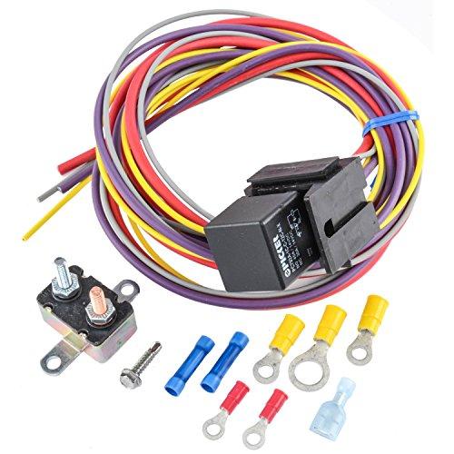 JEGS 10559 Manual-Controlled Single Fan Wiring Harness & Relay Kit