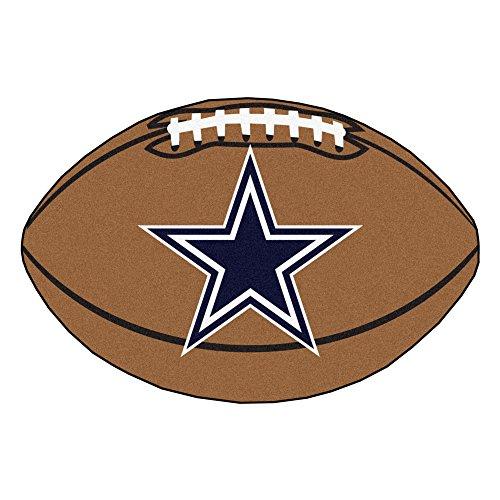 FANMATS NFL Dallas Cowboys Nylon Face Football Rug - Cowboys Rug Mat