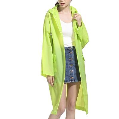 RoseLily Womens Raincoat Waterproof with Hood Rain Jacket EVA Rainwear Rain Coat Packable: Clothing