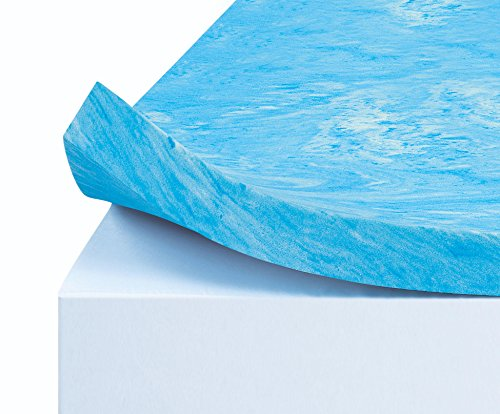Simmons Curv 3 inch Flat Gel Memory Foam Mattress Topper