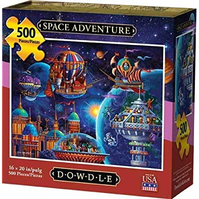 Dowdle Jigsaw Puzzle - Space Adventure - 500 Piece: Toys & Games