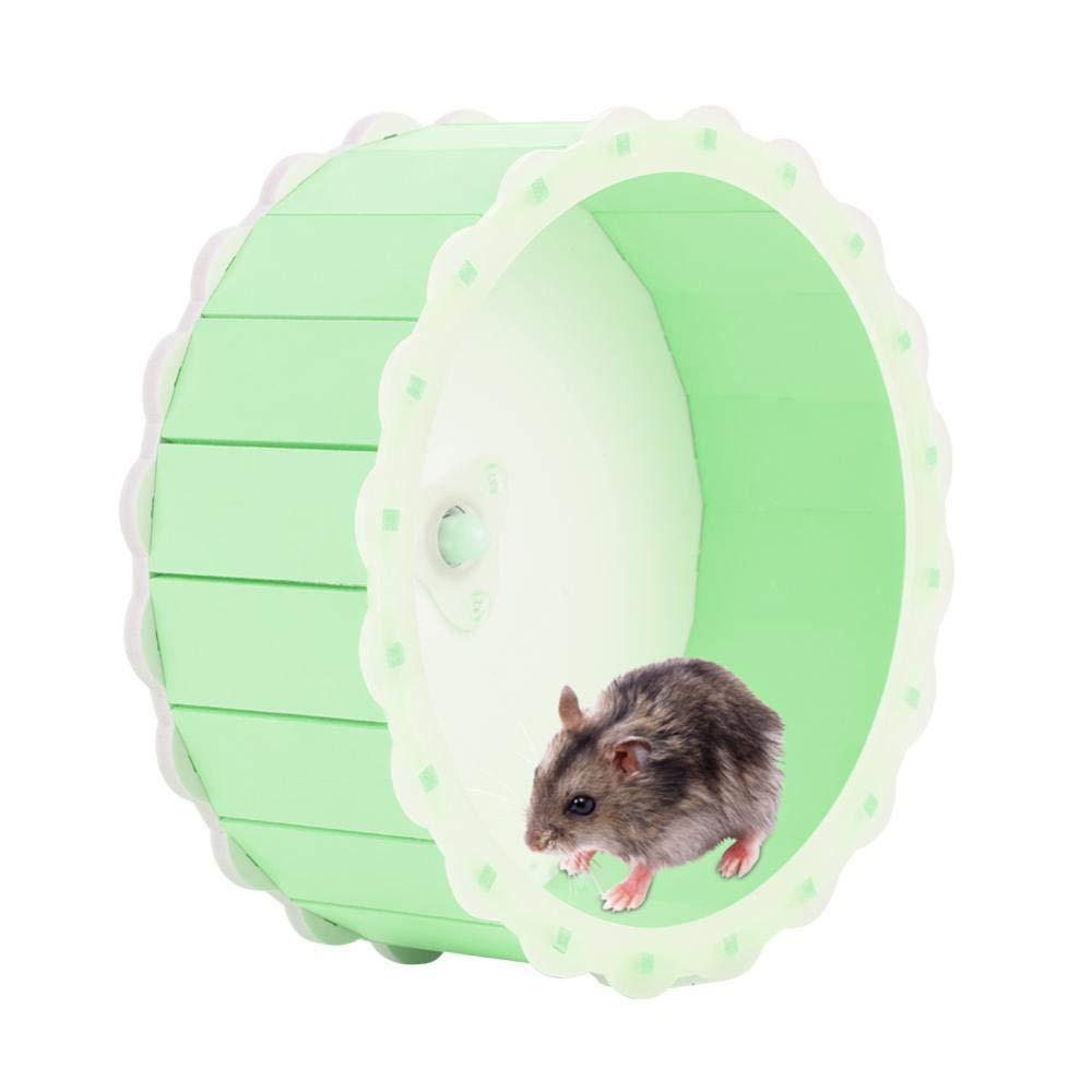 Yosoo- Hamster Exercise Wheel,Wooden Running Wheel Low Noise Exercise Roller Toy for Hamster Rodent(Green)