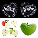Best Garden Tools WCIC Cucumber Apple Strawberry Fruits Growth Forming Mold Star/Heart-shaped Plastic Transparent Growing Mould For Garden Bonsai (LARGE HEART)