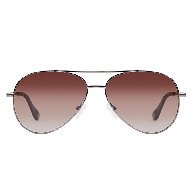 YUFENRA Lunettes de soleil polarisees Aviateur pour Hommes et Femmes Protection UV400 (cadre gris/lentille vert) szBRL