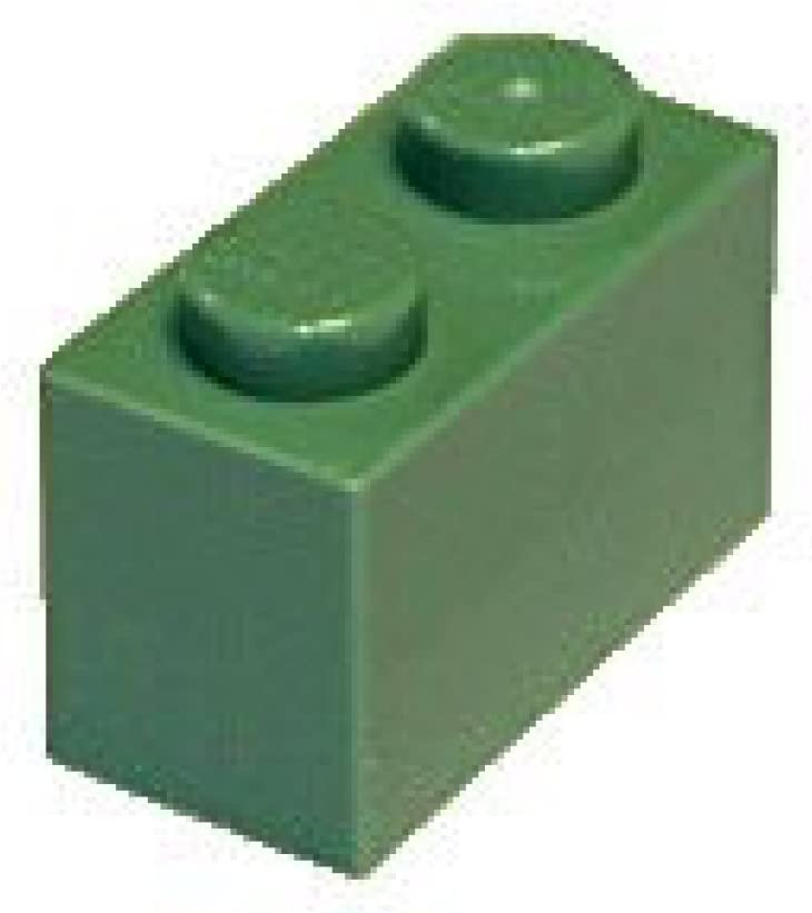 LEGO Parts and Pieces: Sand Green 1x2 Brick x20