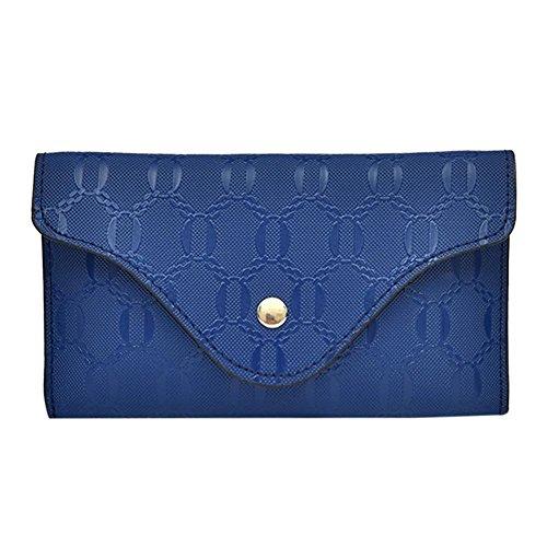 Widewing Women PU Leather Chest Pack Belt Waist Phone Fanny Coin Purse Handbag/Black Blue