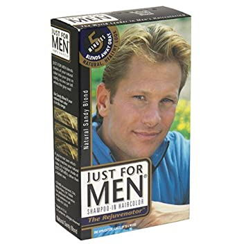 f647bc06c Amazon.com : Just For Men Shampoo-In Haircolor, Natural Sandy Blonde ...