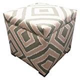 Sole Designs Nouveau Series Tami Collection Pink Blush Finish Upholstered Ottoman with Storage and Lift Top
