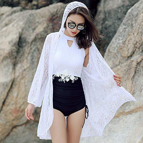 Bagno Mostrato Maniche Lunghe Da L Taglia Qiusa Donna Dimensione Con Bagnato Come In Unica Bikini Costume Split Mostrato colore Effetto Serie Bianca 8A81OqEw