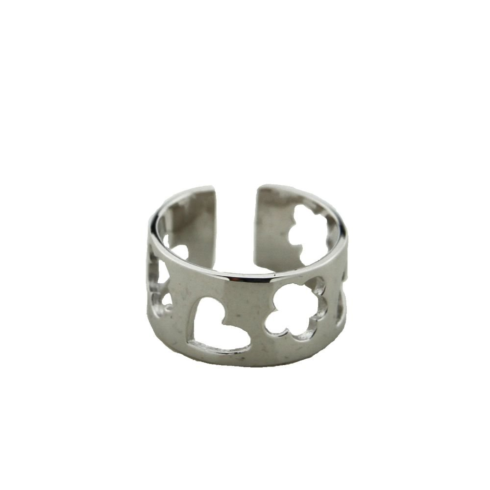 Agatha Ruiz de la Prada Sterling Silver star and heart ring.