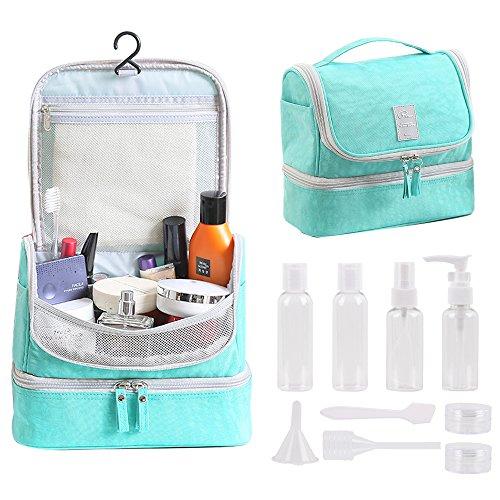 Tuscall Hanging Toiletry Bag + Travel Bottles Set, Premium T