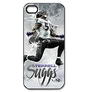 fitted iphone 5 case art painting of Terrell Suggs