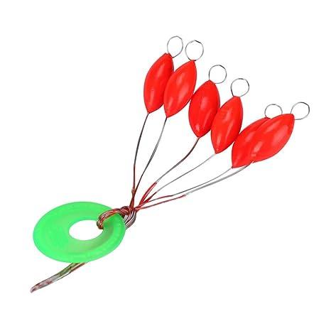 Dzt1968 240pcs probable nueva Seven-Star Oval Mini plástico pesca flotador granos de espacio fácil