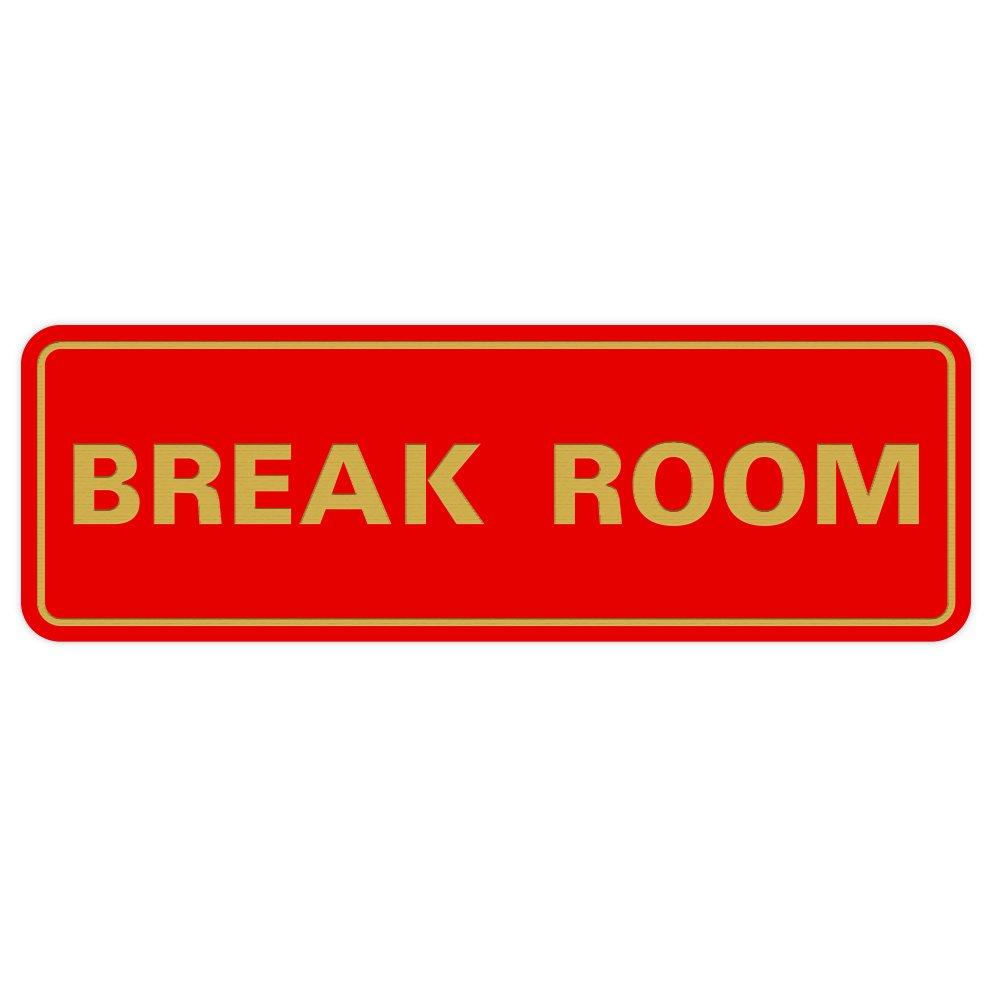 Large Wall Sign Gold Black Standard BREAK ROOM Door