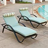 Outdoor Bliss Deco Lounger with Cushion and Bolster Pillow - Set of 2 offers