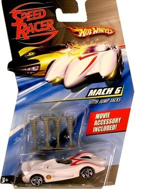 Speed Racer 1:64 Die Cast Hot Wheels Car Mach 6 with Jump Jacks
