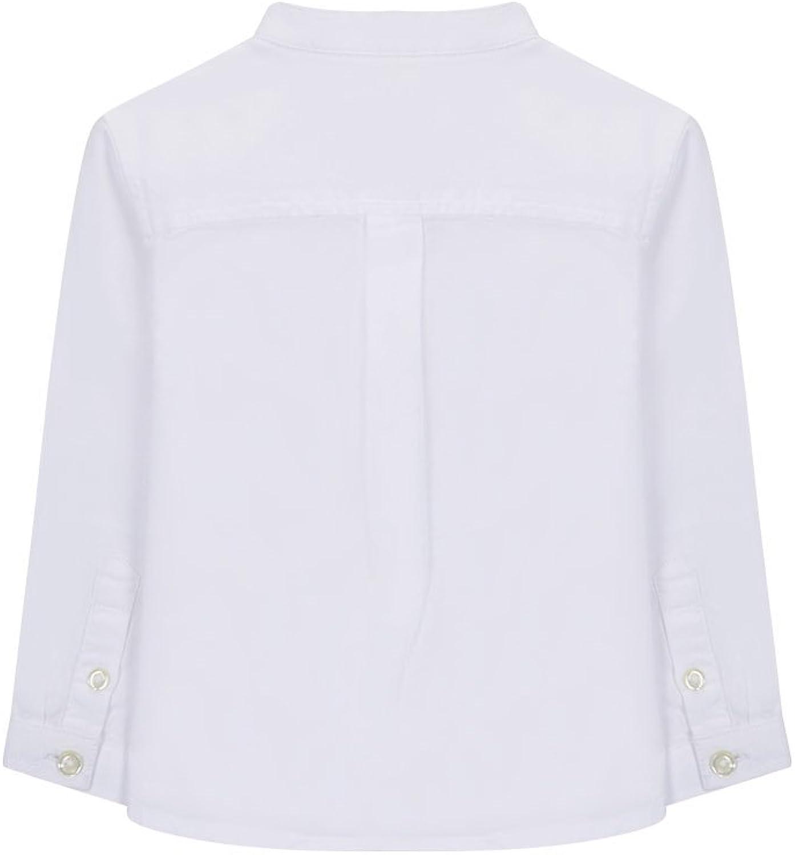 Gocco Camisa Oxford Cuello Mao, Blanco (Blanco WA), 9-12 Meses para Bebés: Amazon.es: Ropa y accesorios