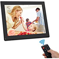 Digital Photo Frame 10 inch - HD Video Digital Slideshow Picture Frame Electronic Picture Frame Remote Control Bsimb M01 (Black)