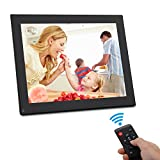 Digital Photo Frame 10 Inch - HD Video Digital Slideshow Picture Frame Electronic Picture Frame with Remote Control Bsimb M01 (Black)