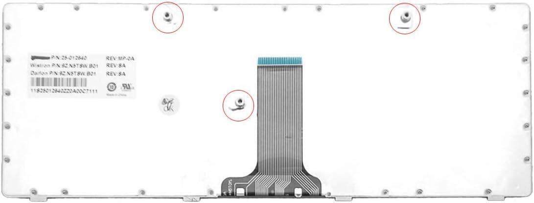 Laptop Replacement Keyboard for Lenovo B470 G470 V470 Gray Frame Black