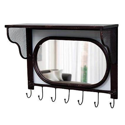 Espejos Espejo de Pared Perchero Colgador de Toallas Espejo ...