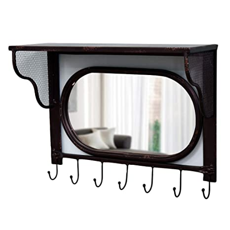 Espejos Espejo de Pared Perchero Colgador de Toallas Espejo de Toallas Gancho de Espejo de múltiples