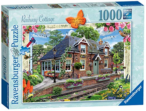 Ravensburger 13989 Country Collection No.13-Railway Cottage, 1000pc Jigaw Puzzle,