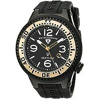 Swiss Legend Men's 21818P-BB-01-GA Neptune Black Dial Black Silicone Watch